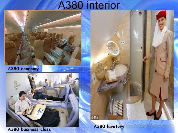A380 interior A380 economy A380 business class A380 lavatory