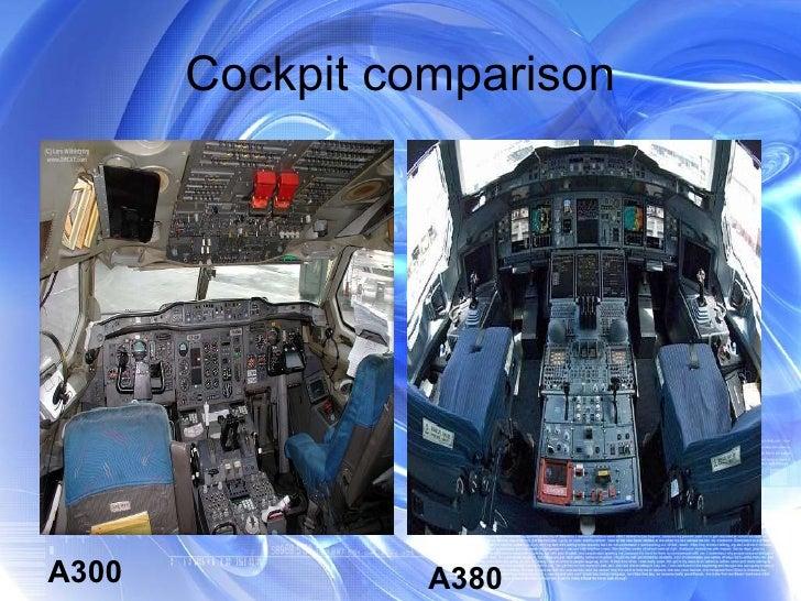 Cockpit comparison A300 A380