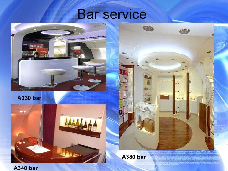 Bar service  A330 bar  A340 bar A380 bar