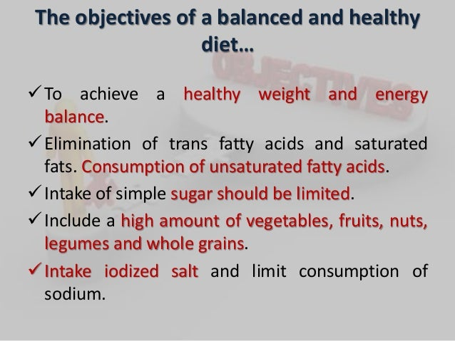 Essay about importance of a balanced diet