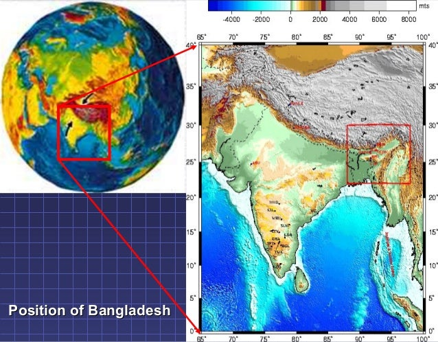 Location & Map of Bangladesh