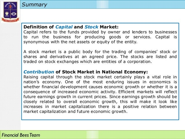 presentation on bangladesh stock market
