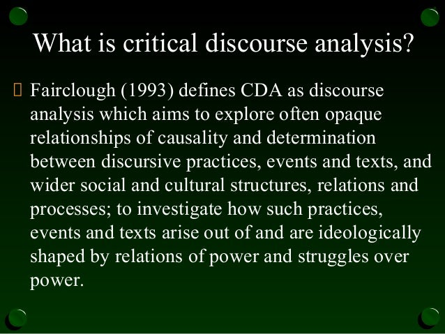 the field of foucauldian discourse analysis The discourse theory of laclau and mouffe and the critical discourse analysis pioneered by fairclough both move beyond foucault's often monolithic view of discourse to explore a much more contested topography.