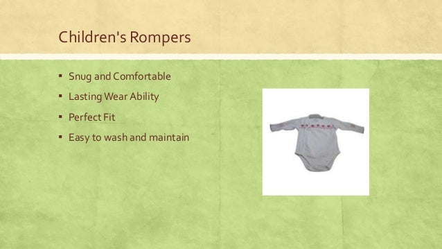 Children's Rompers ▪ Snug and Comfortable  ▪ Lasting Wear Ability ▪ Perfect Fit ▪ Easy to wash and maintain