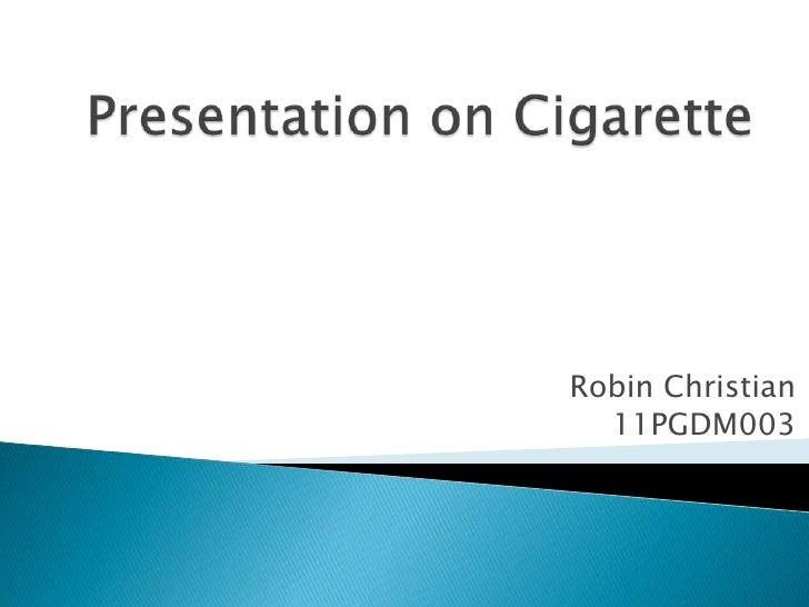 Robin Christian  11PGDM003