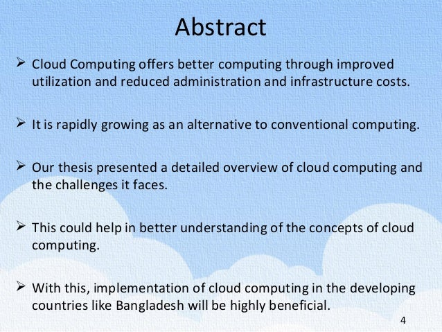 cloud computing and the future essay It is produced in the context of the emerging and future risk framework project  a risk assessment of cloud computing business model and technologies.