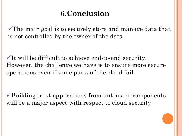 Presentation on cloud computing security issues using HADOOP