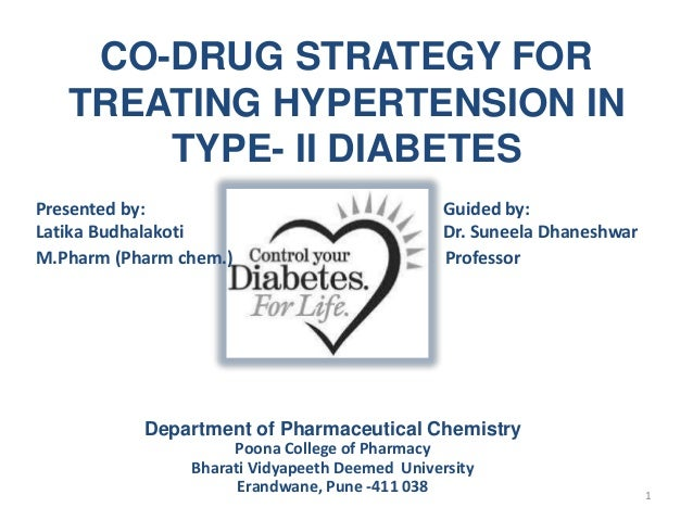 CO-DRUG STRATEGY FOR TREATING HYPERTENSION IN TYPE- II DIABETES Presented by: Guided by: Latika Budhalakoti Dr. Suneela Dh...