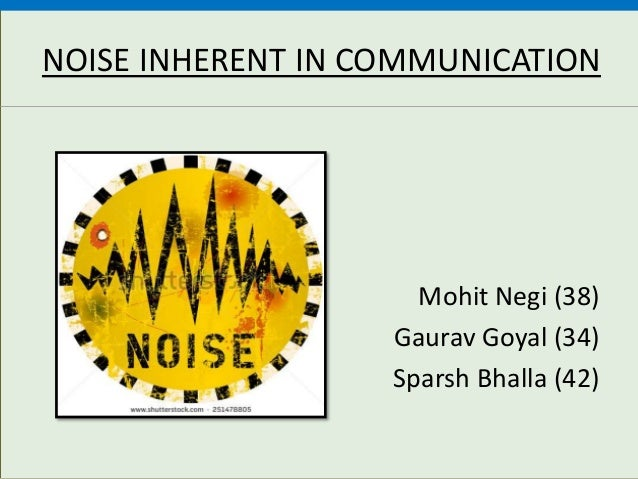 noise in communication
