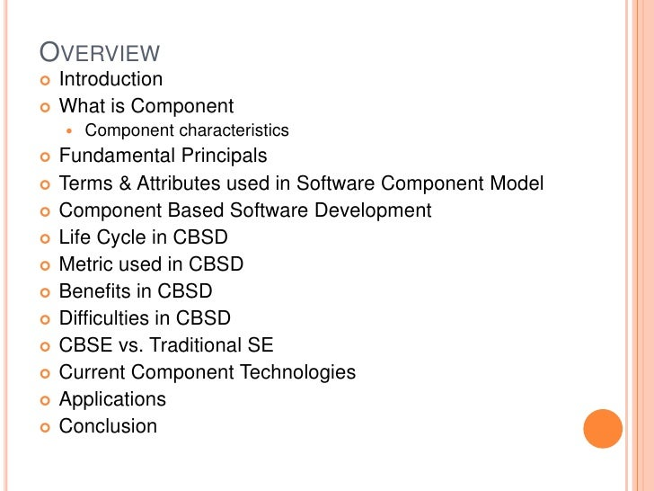 term paper on component based software engineering