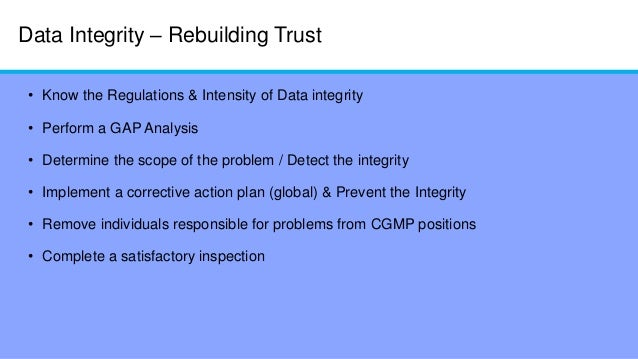 An analysis of integrity