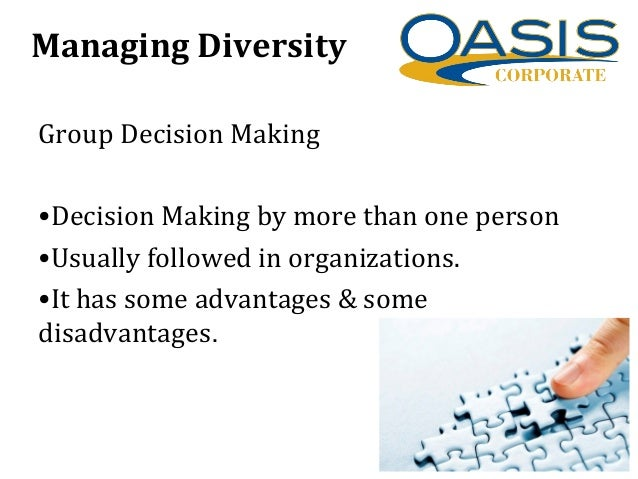 advantages of group decision making in an organisation