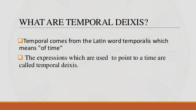 thesis on deixis Person deixis in sby's speech at harvard university a thesis in partial fulfillment of the requirements for thesarjana degree.