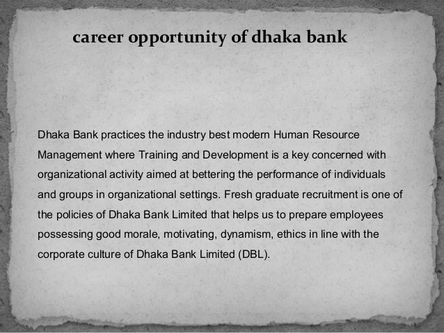 dhaka bank ltd introduction Assignment point - solution for best introduction as a partial dhaka bank limited is committed to developing and delivering to the corporate relationships.