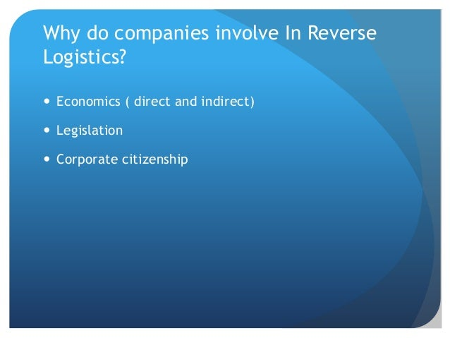 reverse logistics thesis Reverse logistics optimization (at a cellular providing company) by venkata hitesh matthi a starred paper submitted to the graduate faculty of.