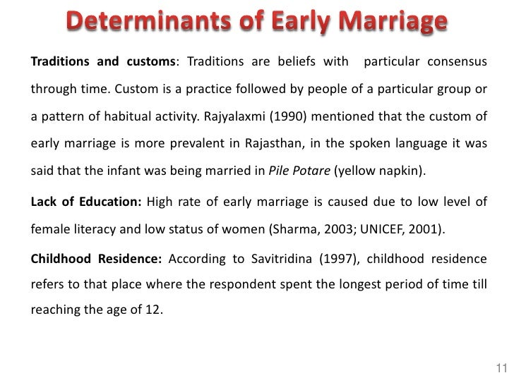 Presentation On Early Marriage