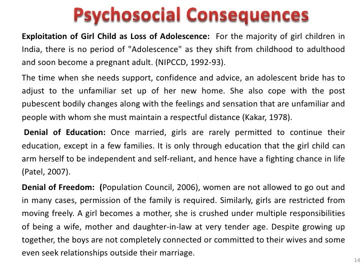 essay on the effects of early marriage