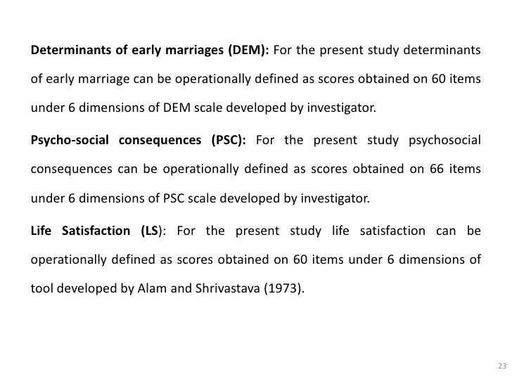 presentation on early marriage  23