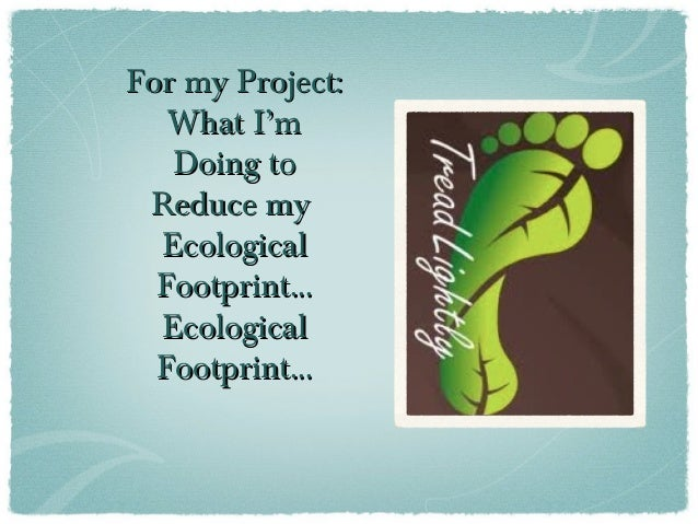 my ecological footprint Personal environmental impact calculator.