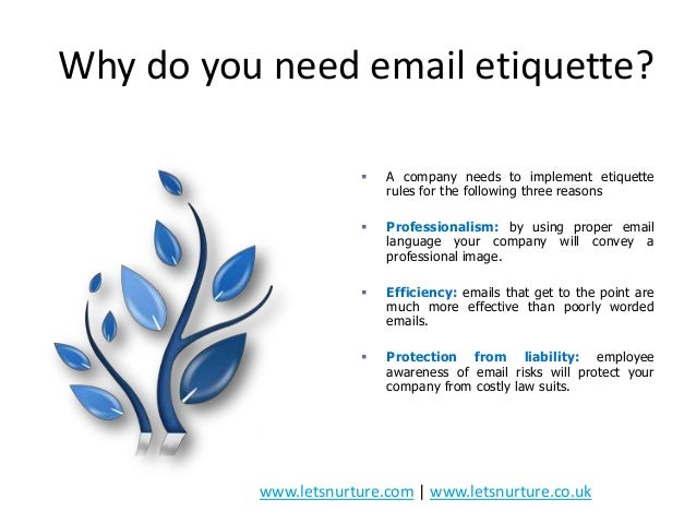 Presentation On Email Etiquettes