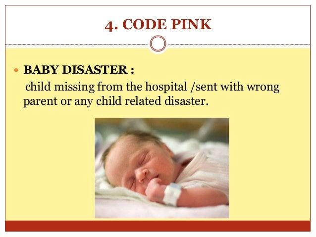 Presentation on emergency codes in a hospital