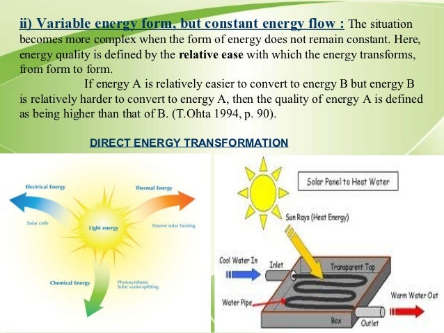 The characteristics of electricity as a form of energy