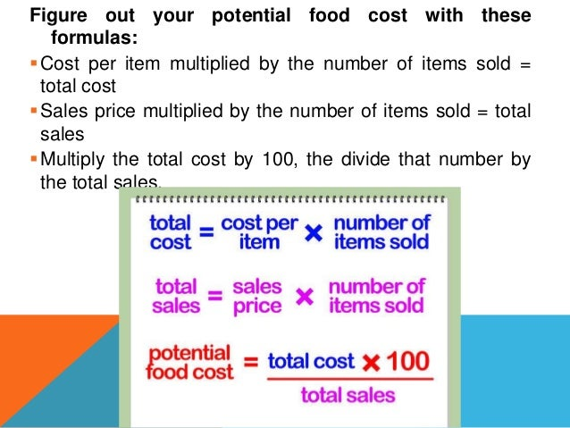 What Percentage Should Your Food Cost Be In A Restaurant