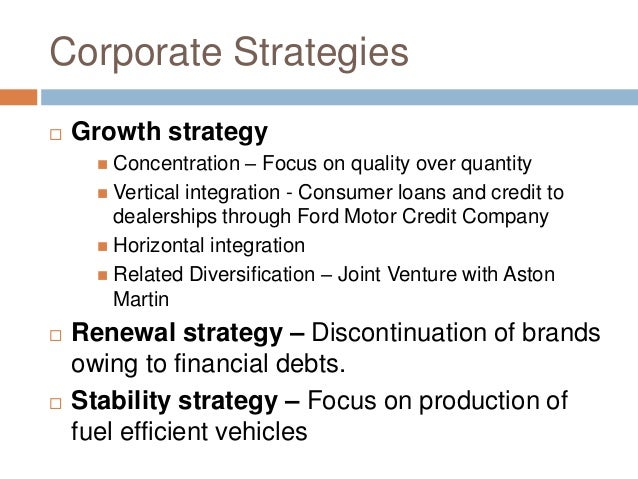 the financial status of the ford motor company Why ford credit we know what drives you.