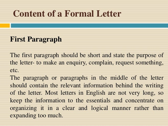 Presentation on formal letter sample of formal letter spiritdancerdesigns Image collections