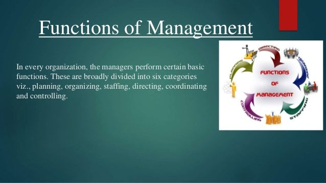 Presentation on functions of management