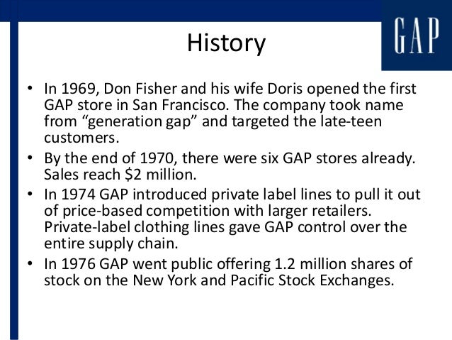 The history and success of the gap inc clothing brand