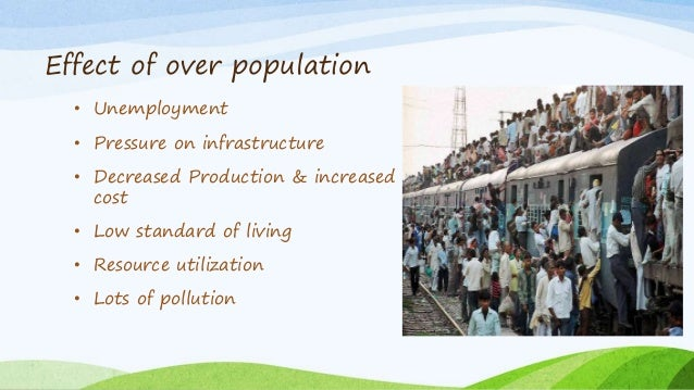 impact of population explosion on health