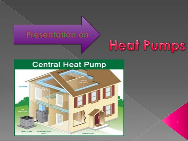 Presentation on Heat pump and its Function. Slide 1
