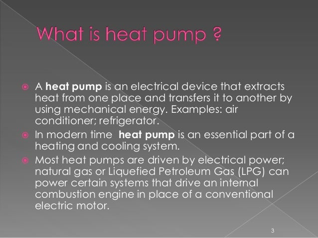 Presentation on Heat pump and its Function. Slide 3