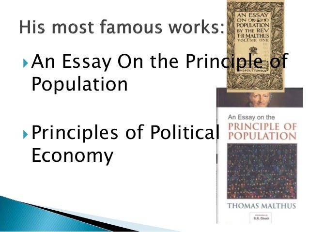 the essay on the principle of population