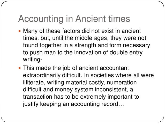 Presentation on history of accounting