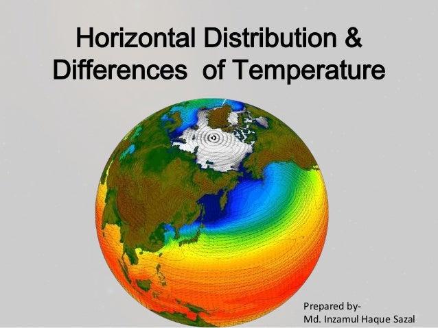 Horizontal Distribution & Differences of Temperature  Prepared byMd. Inzamul Haque Sazal