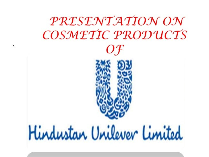 .<br /> PRESENTATION ON COSMETIC PRODUCTS OF<br />