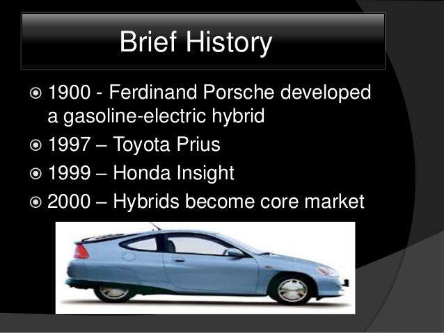classifications of hybrid electric vehicles Hybrid electrical vehicles introduction a hybrid electric vehicle (hev) has two types of energy storage units, electricity and fuel electricity means that a battery (sometimes assisted by ultracaps) is used to store the energy, and that.