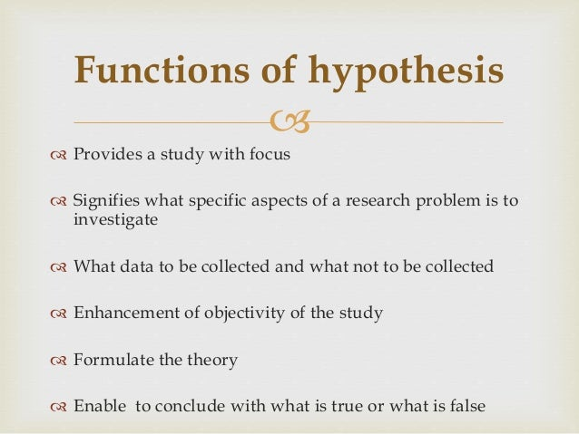 Role of Hypothesis in Social Research