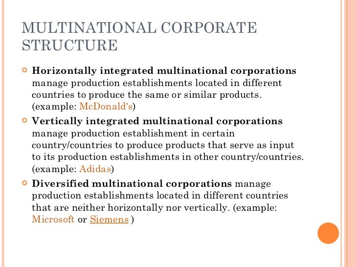 multinational corporation essay example