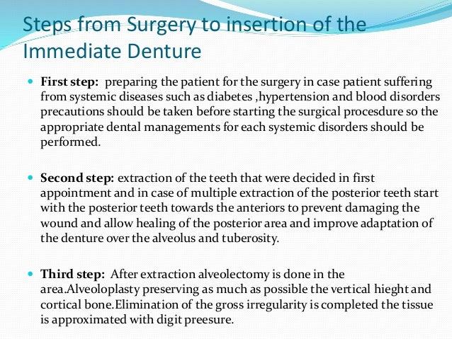 immediate denture post op instructions