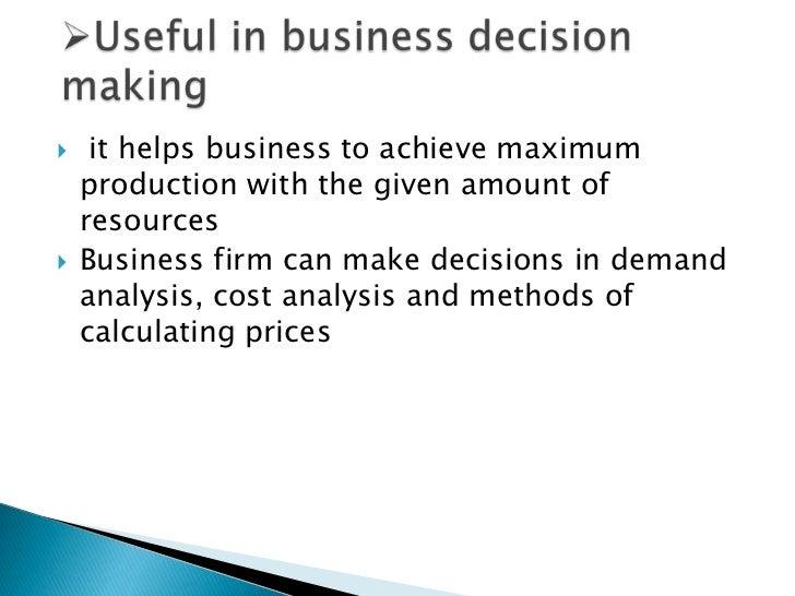 Presentation on importance of microeconomics