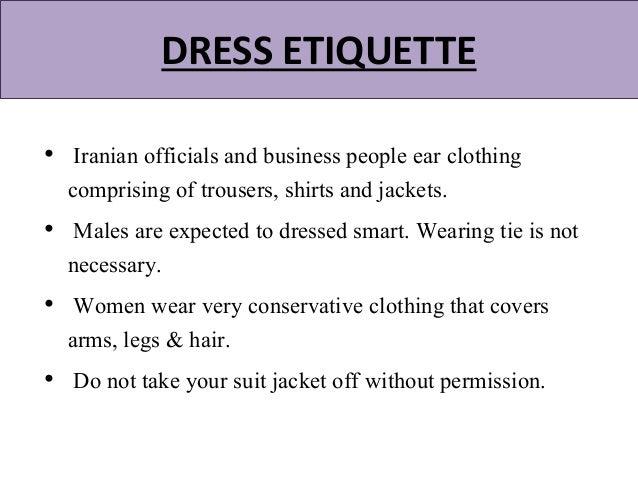 Presentation on iranian culture iranian formal wear 9 business meeting etiquette m4hsunfo