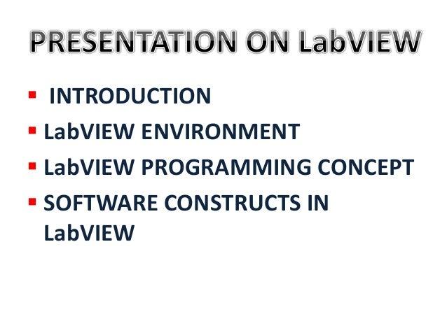 Presentation on LabVIEW Basics