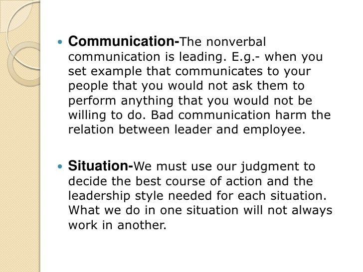 country club leadership style example