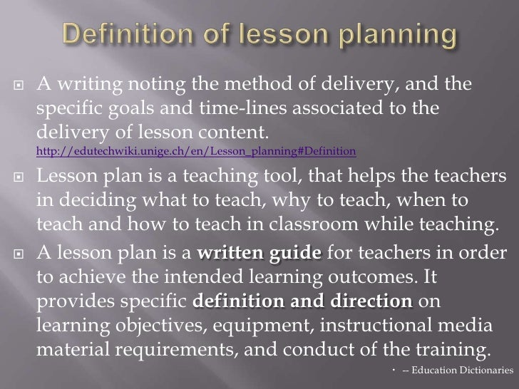 Presentation On Lesson Planning