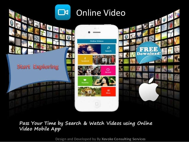 Online Video Pass Your Time By Search Watch Videos Using Online Video Mobile App Design