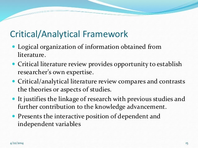 analytical framework literature review