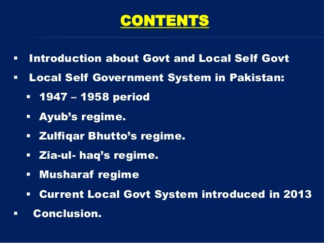 what is local governance pdf